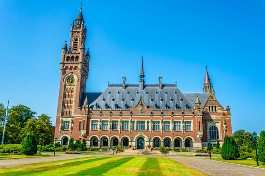 Vredespaleis, seat of the international court of justice, in the hague, netherlands