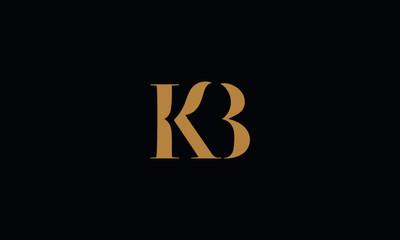 KB logo design template vector illustration minimal design
