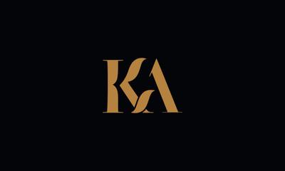 Obraz KA logo design template vector illustration minimal design - fototapety do salonu