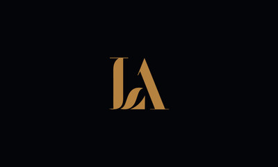 LA logo design template vector illustration minimal design
