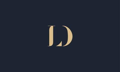 Fototapeta LD logo design template vector illustration  obraz