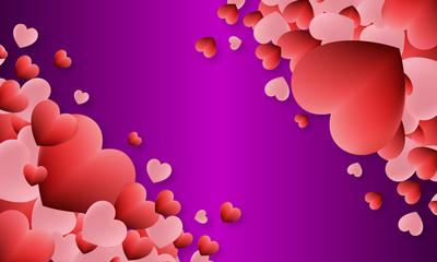 cœur sur fond violet