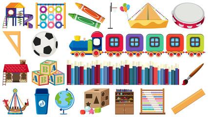 Set of children learning equipment