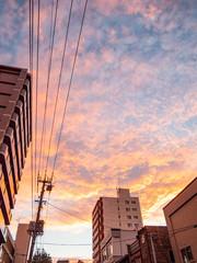 夕焼けの空 北海道小樽市