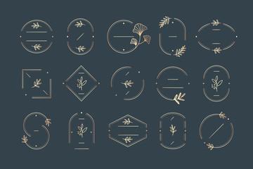 Minimal botanical badge design