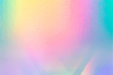 colorful holographic paper with rainbow lights. Fototapete