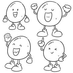 vector set of egg cartoon