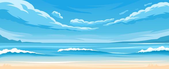 Simple ocean landscape