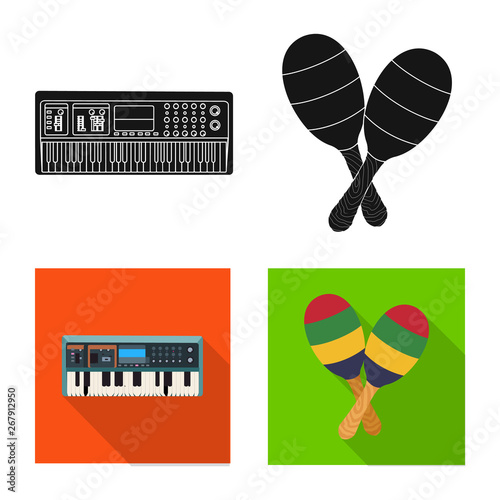 Isolated object of music and tune icon  Set of music and