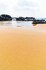 海と砂浜と岩場 鹿児島県奄美大島