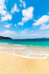 海と砂浜 倉崎海岸 鹿児島県奄美大島