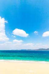 Photo sur Toile Plage 海と砂浜 倉崎海岸 鹿児島県奄美大島