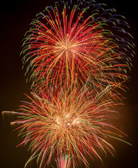 Colorful beautiful Japanese fireworks