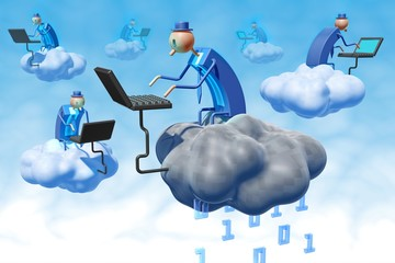 Cloud computing security illustration