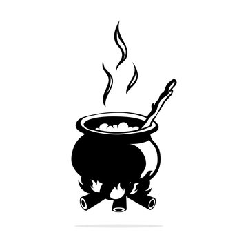Witch pot icon.Vector concept illustration for design.