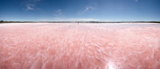 Pink Lake in Nerrin Nerrin, Victoria, Australia