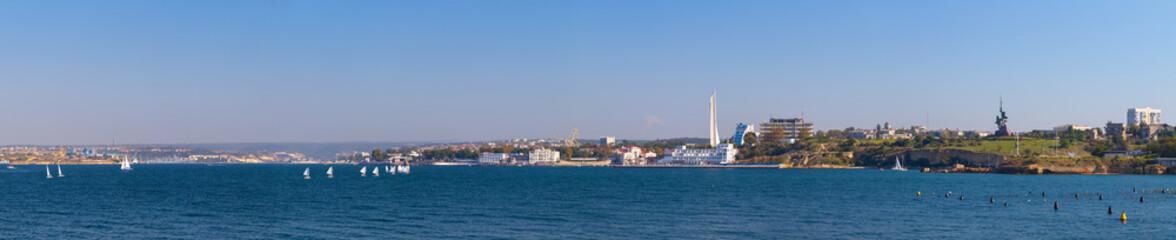 Sevastopol bay. Extra wide panorama