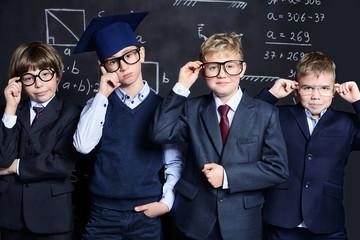 schoolboys in school uniform