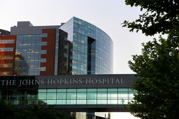 A general view of Johns Hopkins hospital in Baltimore