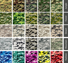 Seamless tilling Camouflage patterns