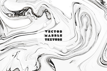 Fototapete - Abstract painting background for wallpapers, posters, cards, invitations, websites. Marbleized effect. Modern artwork with swirls of marble. Fluid art. Mixed white, black and grey paints