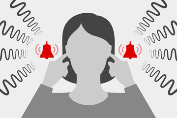 Woman are suffering from tinnitus