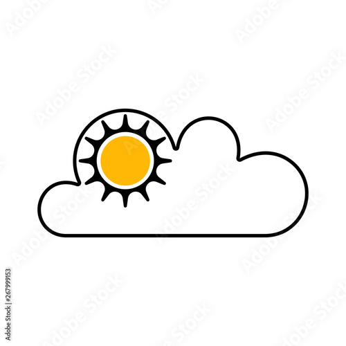 Flat weather symbol for apps and web sites  Vector