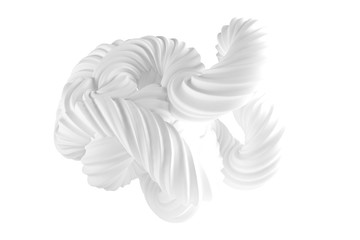 Abstract form on a white background. 3d illustration, 3d rendering.