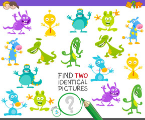 find two identical monsters game for kids