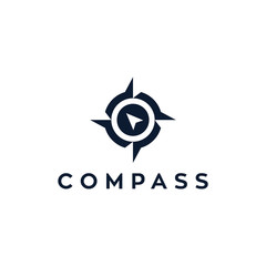 compass symbol vector logo design