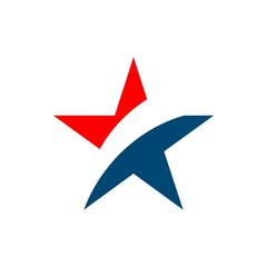 Star Patriotic Logo Vector Template