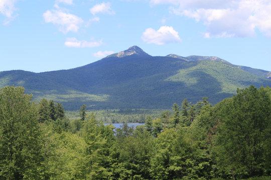 majestic mountain and lake