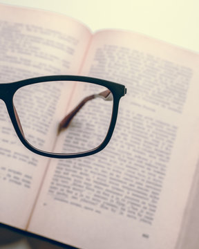 eyeglass lens on page