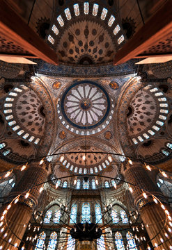 Ornate domed ceiling.