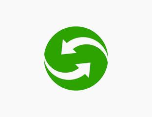 Abstract Arrow Logo Template Icon Vector Illustration