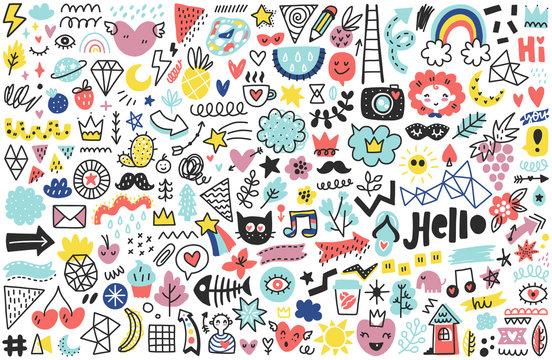 Summer doodles set