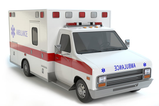 ambulance isolated on white background