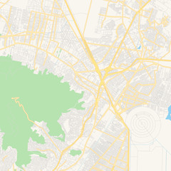 Empty vector map of Ecatepec, Mexico
