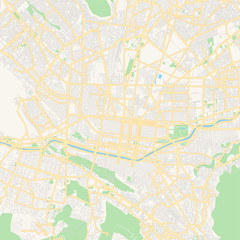 Empty vector map of Monterrey, Nuevo León, Mexico