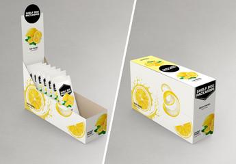 Shelf Box Facing Right Mockup