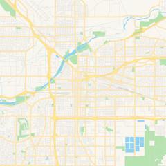 Empty vector map of Bakersfield, California, USA