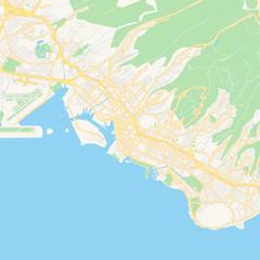 Empty vector map of Honolulu, Hawaii, USA