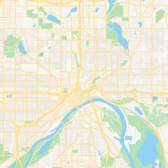 Empty vector map of Saint Paul, Minnesota, USA