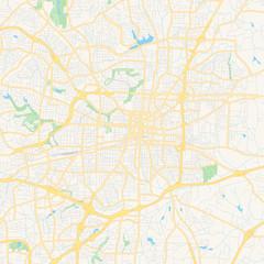 Empty vector map of Greensboro, North Carolina, USA
