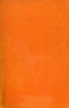 Old orange paper texture. Rough faded surface. Blank retro page. Empty place for text. Perfect for background and vintage style design.