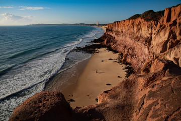 Mens Fishing on Cliffs of Cotovelo Beach - Natal -  Brazil