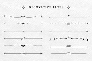 Vintage decorative lines collection