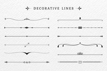 Obraz Vintage decorative lines collection - fototapety do salonu