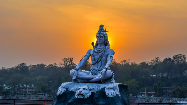 God shiva statue Rishikesh