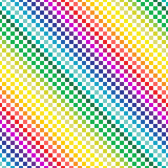 colorful rectangles in lines. seamless pattern and rainbow color concept. vector illustration.